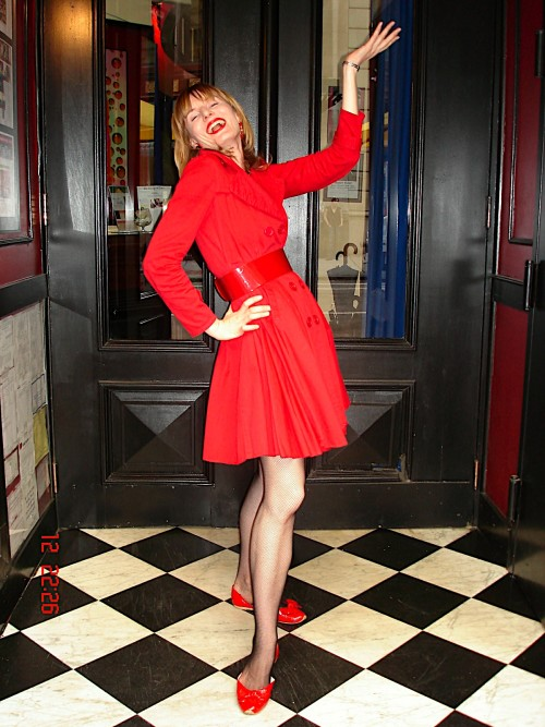 "Goofing around at the door of ""Flute"", a champagne speakeasy in Gramercy Park, NYC, around 2009. My health would deteriorate dramatically shortly afterwards."