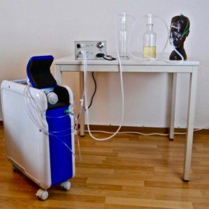 Home ozone set up with the HTU 500 ozone generator for Breathing Ozonated Oil
