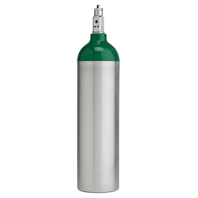 A medical oxygen tank with a CGA 870 post valve