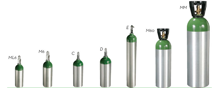 CGA 870 medical oxygen tanks