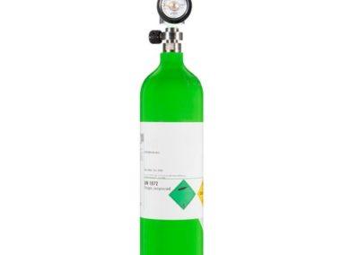 Pre-filled oxygen tank