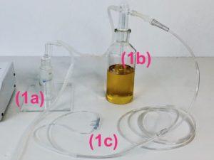 trap oil bubbler cannula for BOO