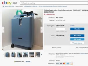 used oxygen concentrator when buying ozone machine