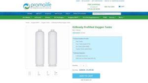 prefilled oxygen tanks