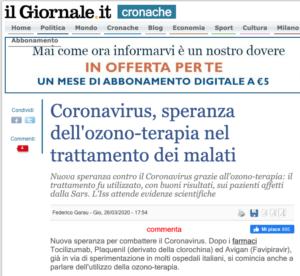 il-giornale-coronavirus-ozono