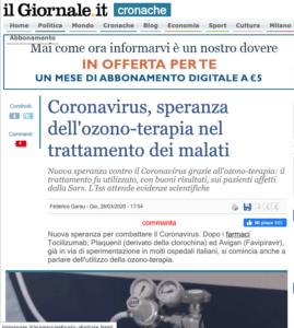 il-giornale-coronavirus ozono ossigeno