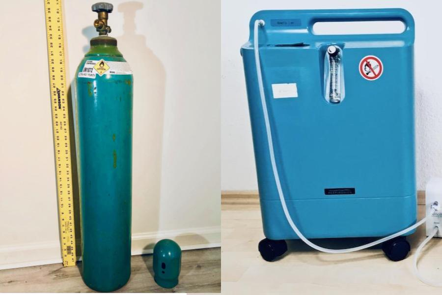 oxygen concentrator and ultra high purity tank