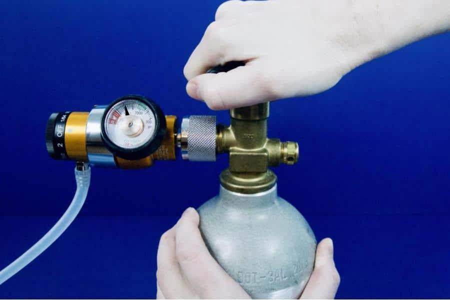 6111 open industrial oxygen tank