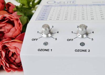 Promolife Dual ozone generator dial knob details