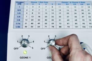 turn ozone generator on to 5 2