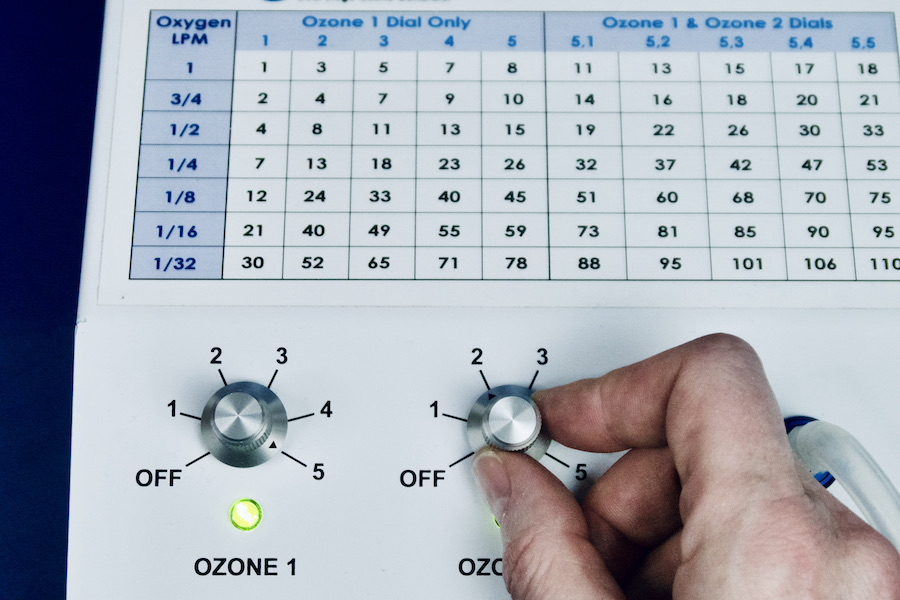 turn ozone generator on to 5 2